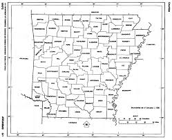 Map Of Iowa Counties Arkansas State Map With Counties Outline And Location Of Each