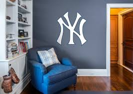 new york yankees logo wall decal shop fathead for new york new york yankees logo fathead wall decal