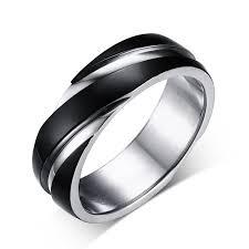 black ring aliexpress buy titanium ring gun black gold color