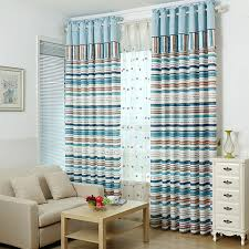 striped bedroom curtains mediterranean blue and coffee horizontal striped curtains bedroom