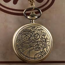 pocket watch chain necklace images Bronze doctor who pocket watches beautiful compass pattern vintage jpg