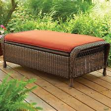 patio furniture with ottomans outdoor storage ottoman seat garden wicker bench patio furniture