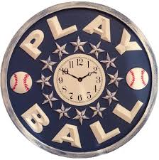 play baseball wall clock riccimarie ricci