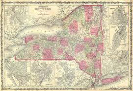 Map Of Buffalo New York by File 1862 Johnson U0027s Map Of New York State Geographicus Ny J 62