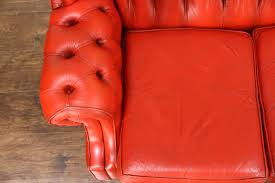 Tufted Vintage Sofa by Sold Red Tufted Leather Vintage Scandinavian Traditional