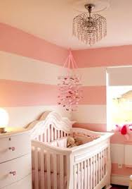 baby pink striped nursery