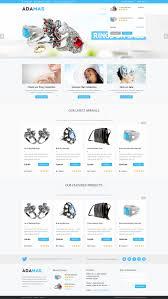 freebie adamas ecommerce website psd template premiumcoding