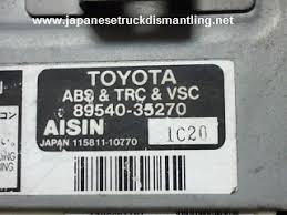 toyota 4runner check engine light vsc trac vsc off 2001 2002 toyota 4runner abs control 89540 35270 trc vsc