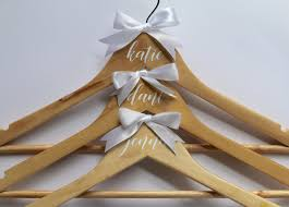 personalised bridal party hangers u2013 grossart ever after