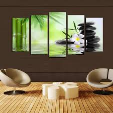 bamboo stone scenery modern home wall decor canvas picture art