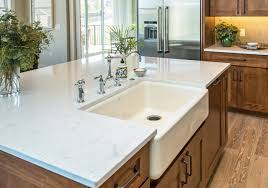kitchen design reviews decorating white cambria torquay countertop with single sink for