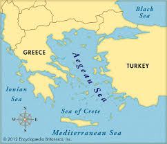 Map Of Mediterranean Sea Map Of Aegean Sea My Blog