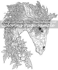 forest fantasy giraffe coloring meadowhaven