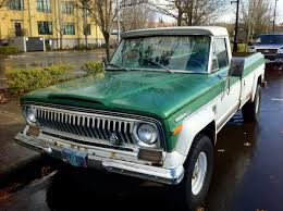 old truck jeep old parked cars 1972 jeep j4000