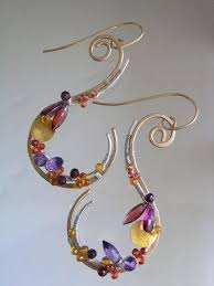 vire earrings новини wire and metal jewellry wire wrapping