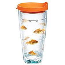 tervis tumbler goldfish 24 oz with travel lid