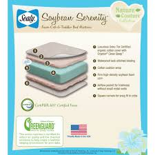 Sealy Soybean Everedge Crib Mattress Mattresses Safety 1st Crib Best Crib Mattress 100 Review