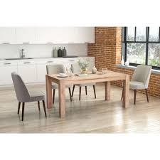 beige dining room zuo kennedy beige dining chair set of 2 100720 the home depot