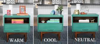 one nightstand three ways styling a mid century modern