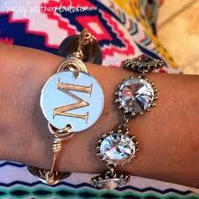 Monogram Bangle Bracelet The 25 Best Monogram Bracelet Ideas On Pinterest Embroidery