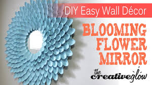 Wall Decorate With Plastic Sheets Pics Gallery Diy Blooming Flower Mirror From Plastic Spoons Youtube