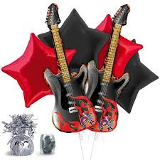 check out guitar balloon kit reduced individual decorations and