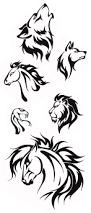 simple tribal animal designs tribal animal tattoos tribal tiger