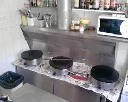 fourniture cuisine professionnelle meuble inox de crêperie avec ventilation capic occasion