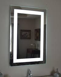 lighted vanity mirror wall mount amazon com wall mounted lighted vanity mirror led mam82436