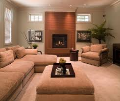 fireplace surround ideas with modern nutmeg cast concrete for