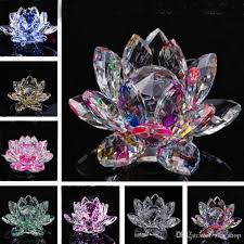wedding flowers paperweight 2018 k9 lotus flower crafts feng shui ornaments figurines