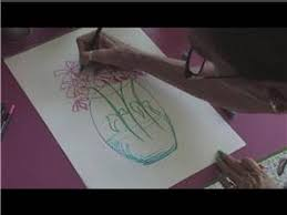 Drawings Of Flowers In A Vase Drawing Tutorial How To Draw Flowers Coming Out Of A Vase Youtube