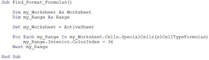 excel vba object properties work with and get available properties