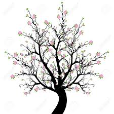 springtime tree clipart black and white free collection
