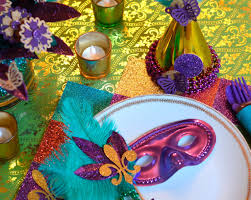 mardi gras table decorations gras party table decor