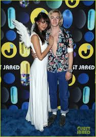 ross lynch u0026 courtney eaton make couple debut at just jared u0027s