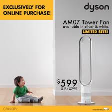 dyson fan am07 sale dyson am07 white silver 599 up 799 here got sale singapore