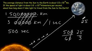 how far does light travel in one second images Scientific notation problem solving jpg