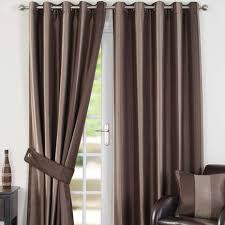 Chocolate Curtains Eyelet Monaco Chocolate Lined Eyelet Curtains Dunelm