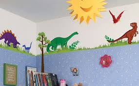 Dinosaur Theme Boys Bedroom Dino Themed Room  Wall Decals - Kids dinosaur room