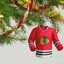 nhl chicago blackhawks jersey ornament keepsake ornaments