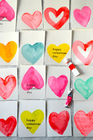 watercolor valentines that anyone can make u2014 super make it