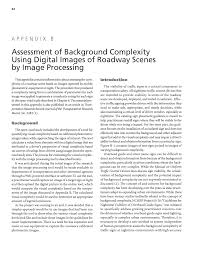appendix b assessment of background complexity using digital