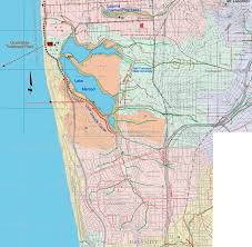 San Francisco Topographic Map by Lake Merced Watershed