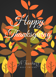 happy thanksgiving to teachers a thank you note to teachers from