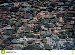 stone wall texture old rock blocks in old medieval brick stock