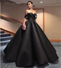 formal dresses black shoulder satin beaded gown dresses prom