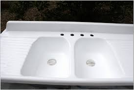 antique farmhouse sink cast iron inset sink inset sink remarkablemhouse with drainboard photo ideas