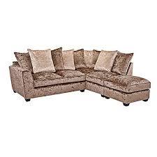 Corner Sofa Velvet Crushed Velvet Furniture Sofas Beds Chairs Cushions