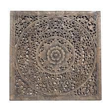 balinese antique wood carving wall panel siam sawadee